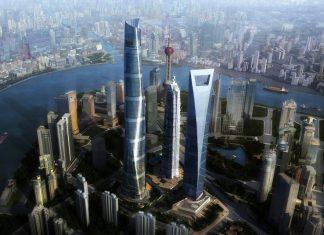 muchos kilómetros de rascacielos