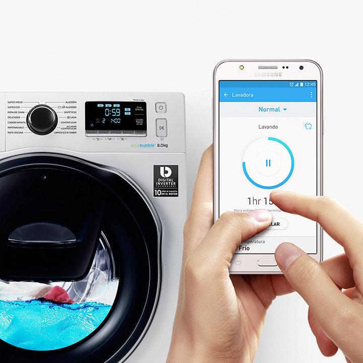 Samsung serie 8 la lavadora que reduce el tiempo de lavado for Lavadoras pequenas carga frontal