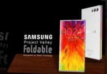 El teléfono plegable de Samsung